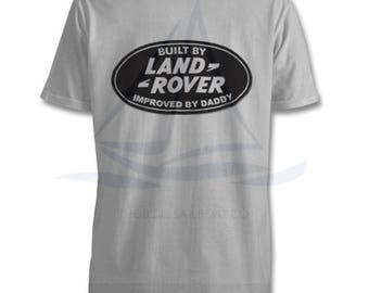 Improved by Daddy Kids T Shirt, Land Rover, Defender, Truck, T-Shirt, Cars, Novelty Gift, Defender T-Shirt, Land Rover T-Shirt Baby, Kids
