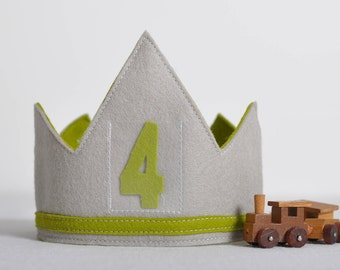 100% Wool Birthday Crown - GREEN