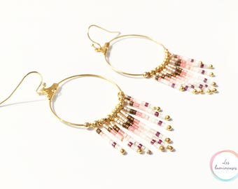 Golden colored earrings
