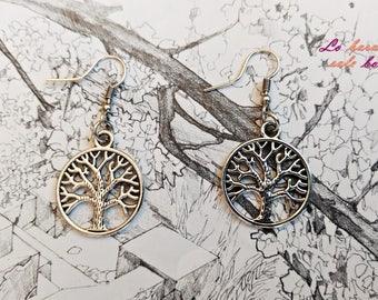 "Earrings ""tree of life""."