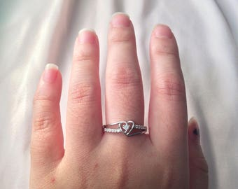 Promise Ring ~ Silver Promise Ring ~ Women's Promise Ring ~ Heart Ring ~ Gifts for Women ~ Promise Ring for Her ~ free gift box