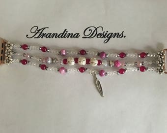 38mm pink/silver i watch band