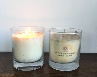 Large Glass Soy Wax Candle