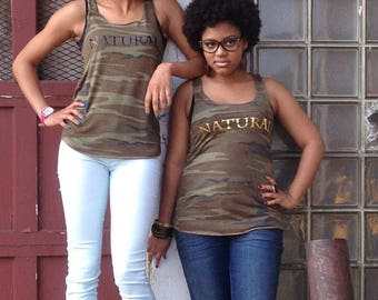 Natural Hair T Shirt - Natural Hair Tank Top - Afro Shirt - Camouflage Tank - Afro T Shirt - Natural Hair Art - Afro Hair - Hair T Shirt