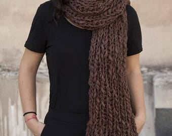 handmade knit scarf with fringes