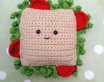 Salad Sandwich Crochet Amigurumi Kawaii Play Food