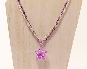 Shake, Señora - Shaker Star Decoden Kawaii Purple Star Necklace