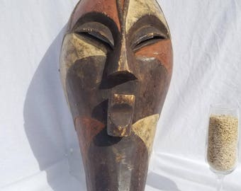 TRIBAL EXOTICS : PREMIUM Authentic fine tribal African Art - Buyu Buye Babuye Wood Mask Figure Sculpture Statue