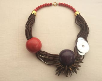 unrefined necklace