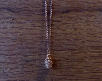 Rose Gold Pinecone Necklace, Dainty Necklace, Pinecone Necklace, Rose Gold Necklace, Gift