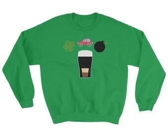 Irish Car Bomb St. Patrick's Day Green Sweatshirt