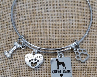 Great Dane Bangle Bracelet