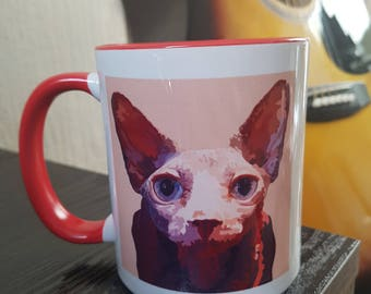 custom made,pet,portrait,illustration,mugs,cups,unique,animals,special,design,artwork,creation,dogs,cats,horses,wild,print,pattern,colourful
