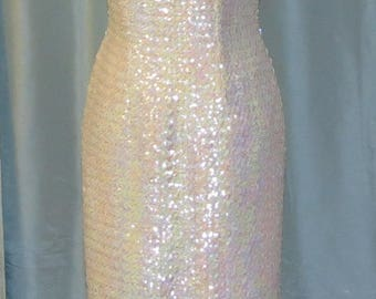 Vintage Sequined Evening Gown