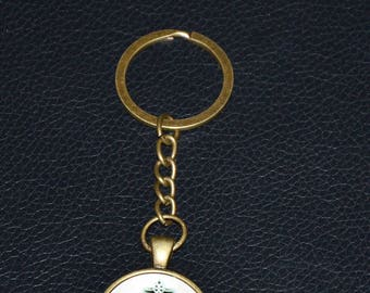 Earth My Body . . . Keychain: Antique Bronze - 2.50 Shipping on any keychain purchase, Wicca, Pagan, Goddess, Witchcraft,