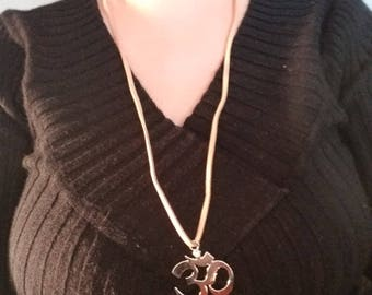 OM symbol necklace on cord