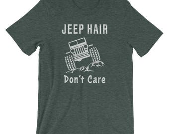 Vintage Jeep Hair Don't Care, Funny Jeep Lover Off Road Shirt for Jeep Owners, Jeep Clothing, Jeep Tshirt, Jeep Tee Active, Jeep Girl