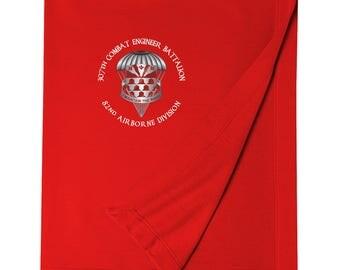 307th Combat Engineer Battalion (Airborne) Embroidered Blanket-3476