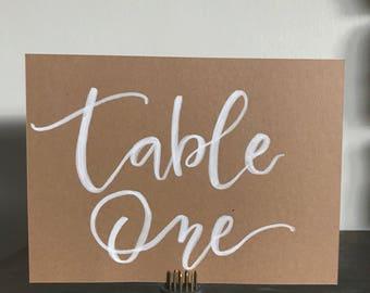 Hand lettered Wedding Signage - Brush Lettering