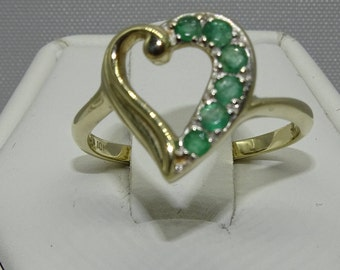 10K Emerald Ring 0.22ct