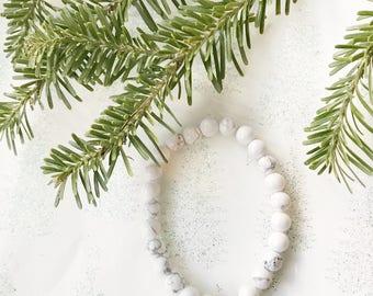 Howlite + Chrysoprase Healing Bracelet