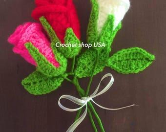 Crochet Flower- Crochet Rose