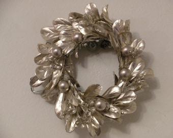Beautiful Gold Christmas Tree Ornament or mini wreath