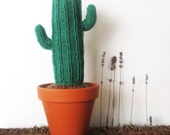 Knit Cactus, LARGE, Knit Plant, Cactus Toy, Plush Cactus, Home Decor, Succulent, Ready to Ship