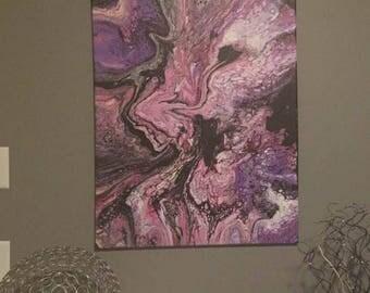 "24"" x 30"" Original Acrylic fluid art"