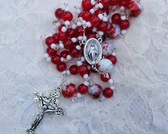 Rosary Beads - Catholic Rosary Beads - Rosaries - Catholic Rosaries - Catholic Gift - Religious Gift - Prayer Beads - First Rosary Beads