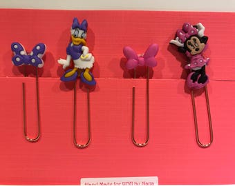 Set of 4 Minnie Mouse & Daisy Duck Planner Clips