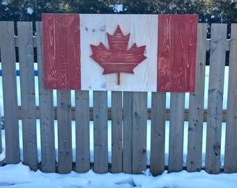 Rustic Canadian Flag