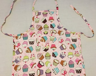 Handmade Child's Apron Cupcakes
