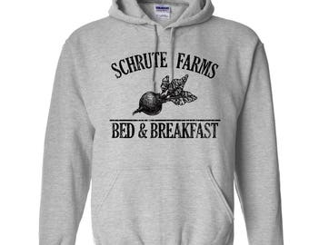Schrute Farms Hoodie. The Office Hoodie. The Office Sweatshirt. The Office Merch. S-3XL.