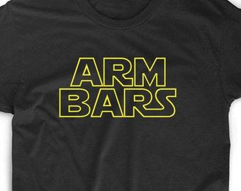 Arm Bars T Shirt Custom Tee MMA Jiu-Jitsu Trainer Martial Arts Fighting Grapple Weight Lift Workout Geek Nerd Gamer Funny Unique Fun