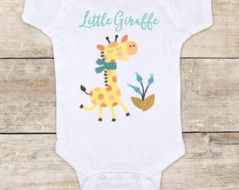 Little Giraffe cute boho design baby one piece bodysuit baby shower gift - Made in USA - toddler kids youth shirt