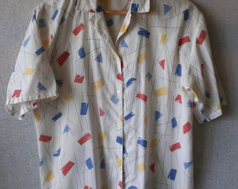 Womens 1980sVintage Blouse Top Size Medium