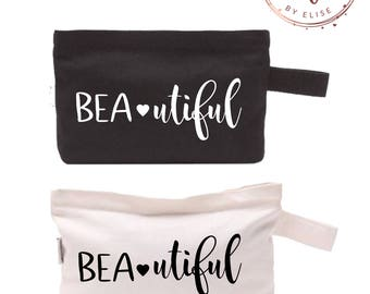 Beautiful Customizable Cosmetic Makeup Bag