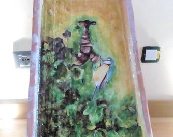 Tile painted with Cinciarella