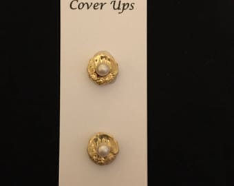 Gold & Pearl Button Cover Ups