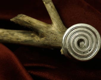Aluminium Spiral Ring// Hammered Aluminium Ring// Gift for her// Spiral Ring// Wire Ring