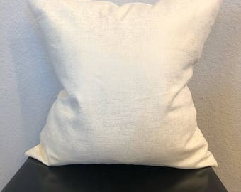 Ivory/ White Pillow Cover with Gold Detailing 18x18in