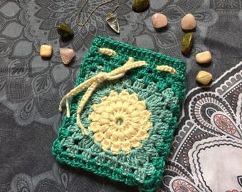 Worm Moon Crocheted Sachet (March)