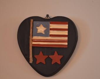 Handmade Flag Heart