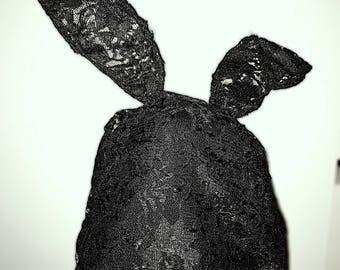 Lace Bunny Ears Beanie