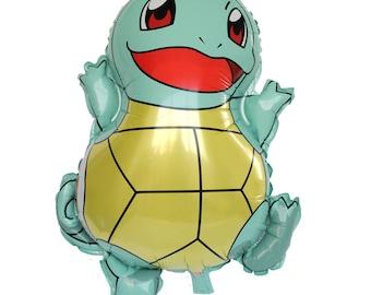"26"" Squirtle Pokemon Super Cute Turtle Balloon, Kids Birthday Party Decor"