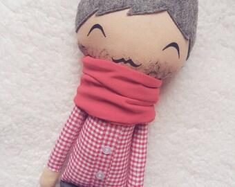 """Fabric doll boy """"Fred"""""""