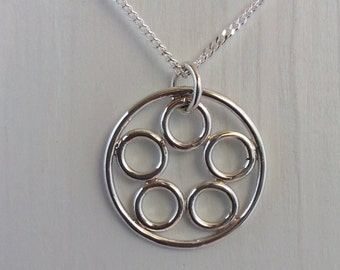Chain with circles, silver