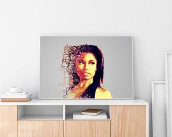 Nicki Minaj Limited Artwork Poster