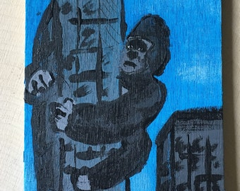 King Kong - Miniature Acrylic Painting and Magnet